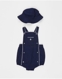 Polo Ralph Lauren - Bubble Seersucker Shortalls - Babies