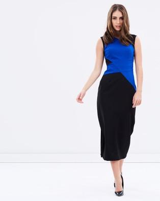 Pink Ruby – Macbeth Paneled Dress – Dresses (Blue)
