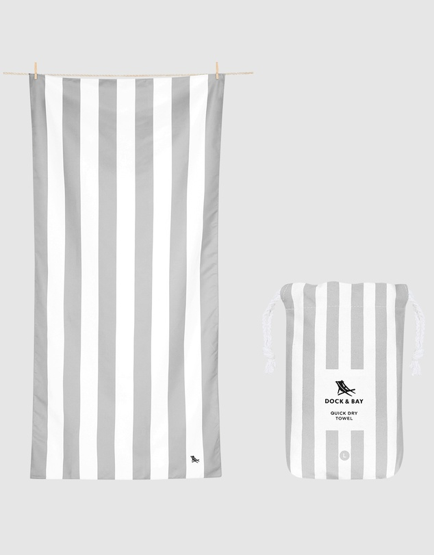 Life Large Beach Towel 100% Recycled Cabana Light Collection