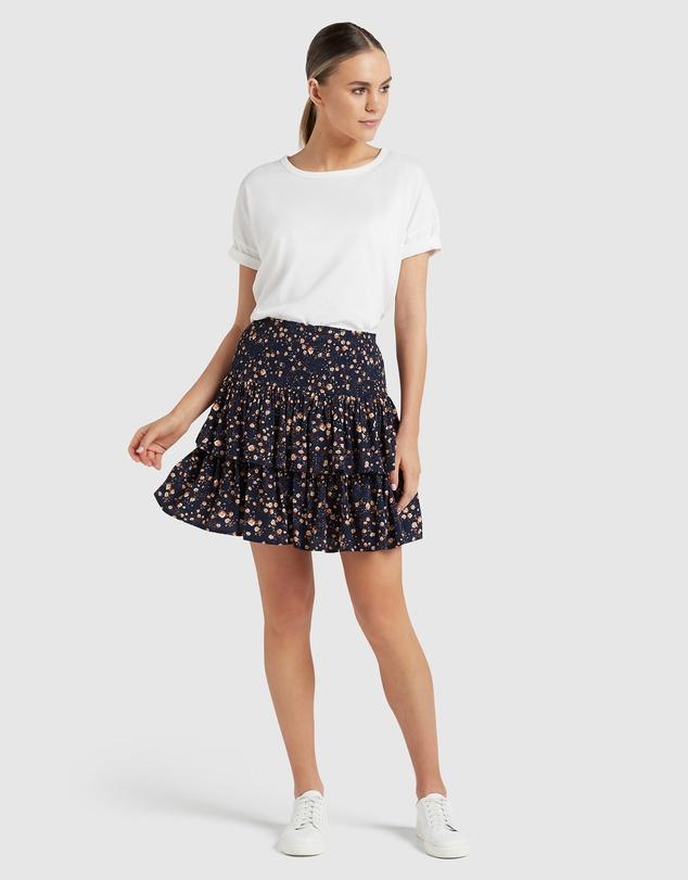 Women Shirred Flippy Skirt