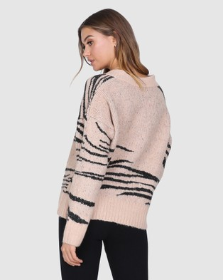 Madison The Label Bexley Knit - Jumpers & Cardigans (Beige)