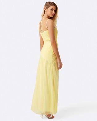 Little Mistress – Lemon Knot Waist Maxi Dress – Bridesmaid Dresses Lemon
