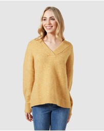 French Connection - Chunky V Neck Knit