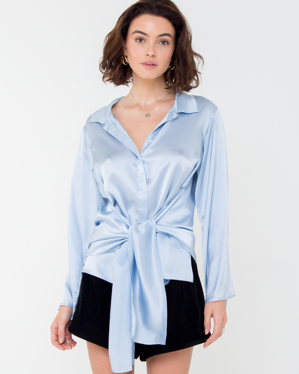 Carver Elle Shirt Tops Blue Elle Shirt