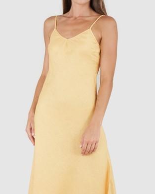 Amelius Evangeline Linen Dress - Sleepwear (Yellow)