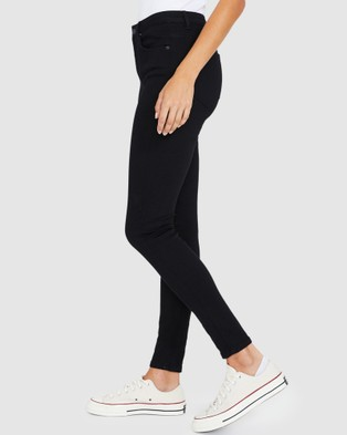 Insight Molly Mid Rise Skinny Jeans - Jeans (BLACK)
