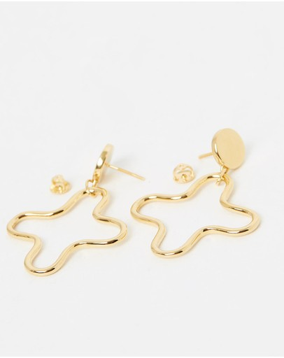 Saint Valentine Matisse Earrings Gold