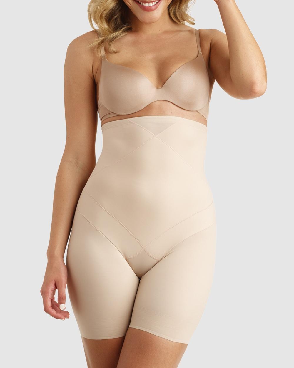 Miraclesuit Shapewear Tummy Tuck High Waist Thigh Slimmer Briefs Nude High-Waist