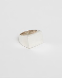 Heart of Bone - Large Rectangle Signet Ring