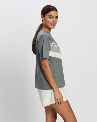 All About Eve Angled Cheetah Tee - Short Sleeve T-Shirts (KHAKI)