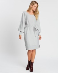 Atmos&Here - Kamila Belted Knit Dress