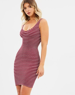 Bond-Eye Swimwear – The Harper Dress – Bodycon Dresses Sangria Stripe