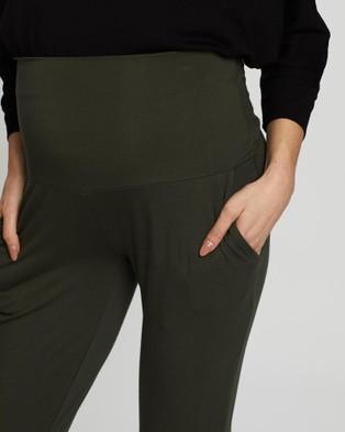 Angel Maternity Maternity Jogger Pants - Pants (Khaki)