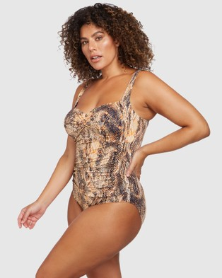 Artesands Ser'Piente Brown Botticelli One Piece - One-Piece / Swimsuit (Brown)