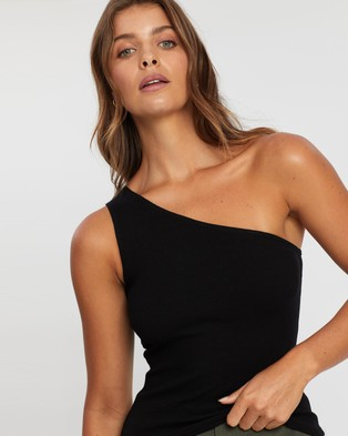 Atmos&Here Darcy One Shouldered Top - Cropped tops (Black)