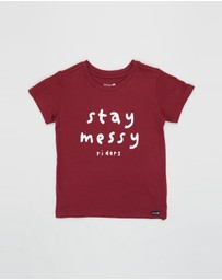 Riders Jnr By Lee - The SS Stay Messy Tee - Kids