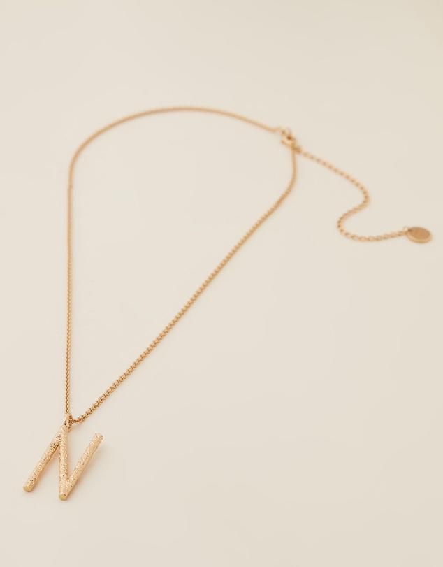 Women Grande Letter Necklace - N
