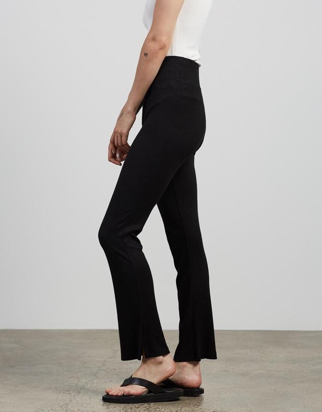 Women The Knit Rib Flare Pants