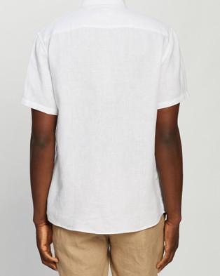 Marcs Felix SS Linen Shirt - Shirts & Polos (White)