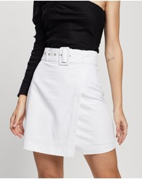 Atmos&Here - Scarlett Linen Blend Mini Skirt