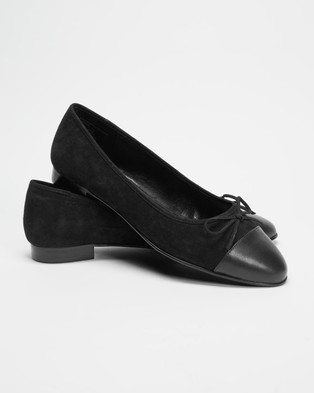 Atmos&Here Angelina Leather Ballet Flats - Ballet Flats (Black)