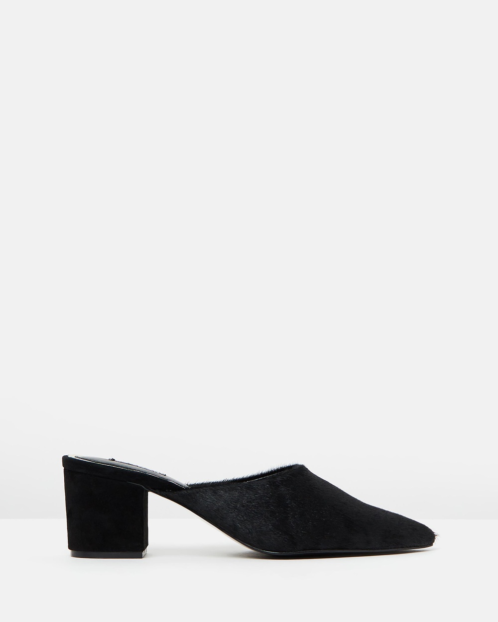 Jaggar Trot Pony Mules Mid-low heels Black Trot Pony Mules