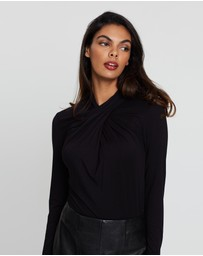 David Lawrence - Wrap Neck Top