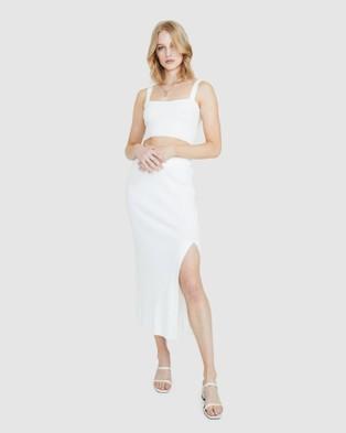 Alice In The Eve Eliza Marl Knit Bralette Top - Tops (WHITE)