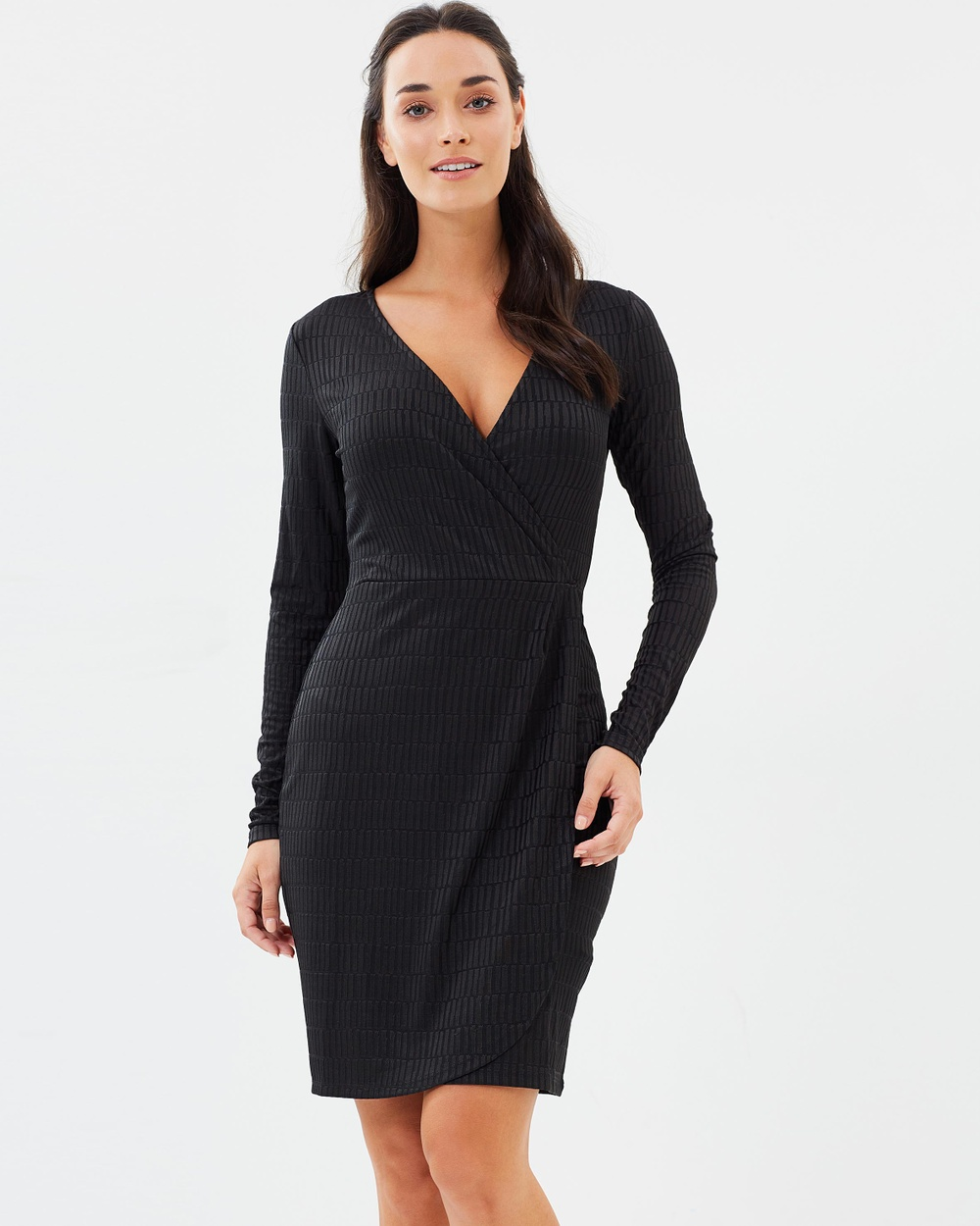 French Connection Linear Jacquard Dress Bodycon Dresses Graphite Linear Jacquard Dress