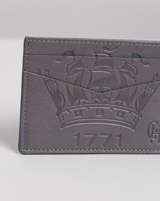 Gieves and Hawkes 1771 Crown Logo Cardholder - Wallets (Grey)
