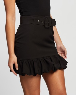 Atmos&Here Mia Mini Skirt Skirts Black