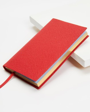 Smythson Pastegrain Panama Notebook - Accessories (Scarlet Red)