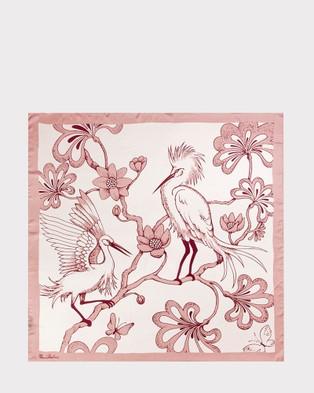 Florence Broadhurst Egrets Silk Scarf - Scarves & Gloves (Rose)