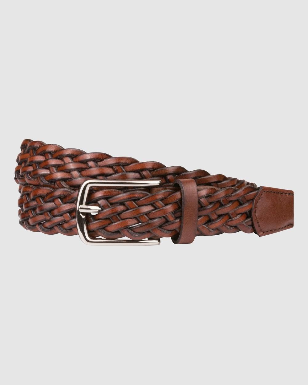 Florsheim Neeson Belt Belts Brown
