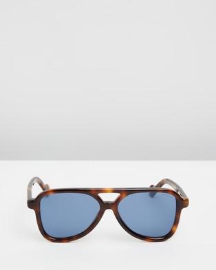 Moncler ML0140 - Sunglasses (Dark Havana)