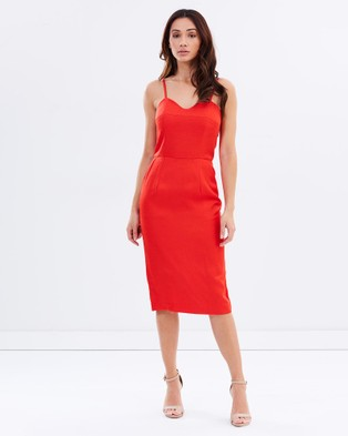 Honey and Beau – Fiesta Pocket Dress – Dresses (Red)