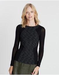 Karen Millen - Panelled Long Sleeve Top