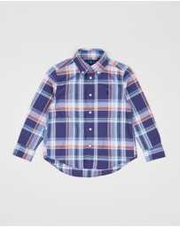 Polo Ralph Lauren - Long Sleeve Poplin Shirt - Kids