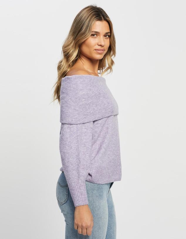 Women Jenna Off Shoulder Wool Blend Knit