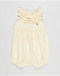 Polo Ralph Lauren - Stripe Bubble Shortall - Babies