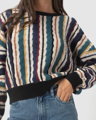 Cools Club Crew Knit Sweats (Biggie Stripe)