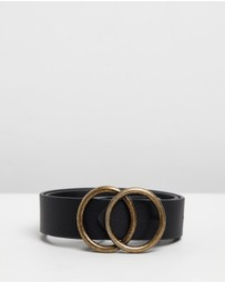 Atmos&Here - Emery Black & Gold Thick Belt