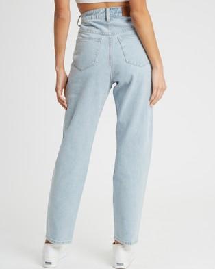 Calli Luna Relaxed Jeans - High-Waisted (Light Blue Wash)