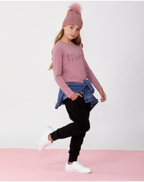 Decjuba Kids - Merci Long Sleeve Tee - Teens