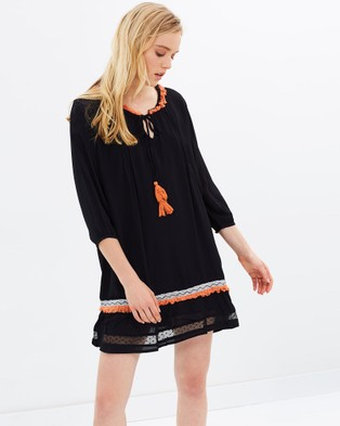 Solito – Panama Folk Tunic – Tops Black