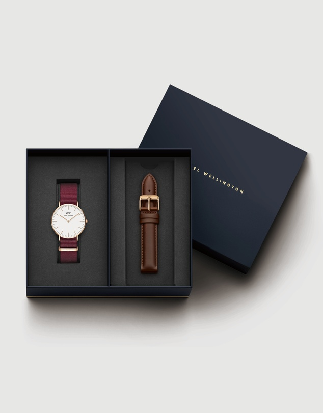 Women Gift Set - Classic Roselyn 36mm + Leather Strap St Mawes