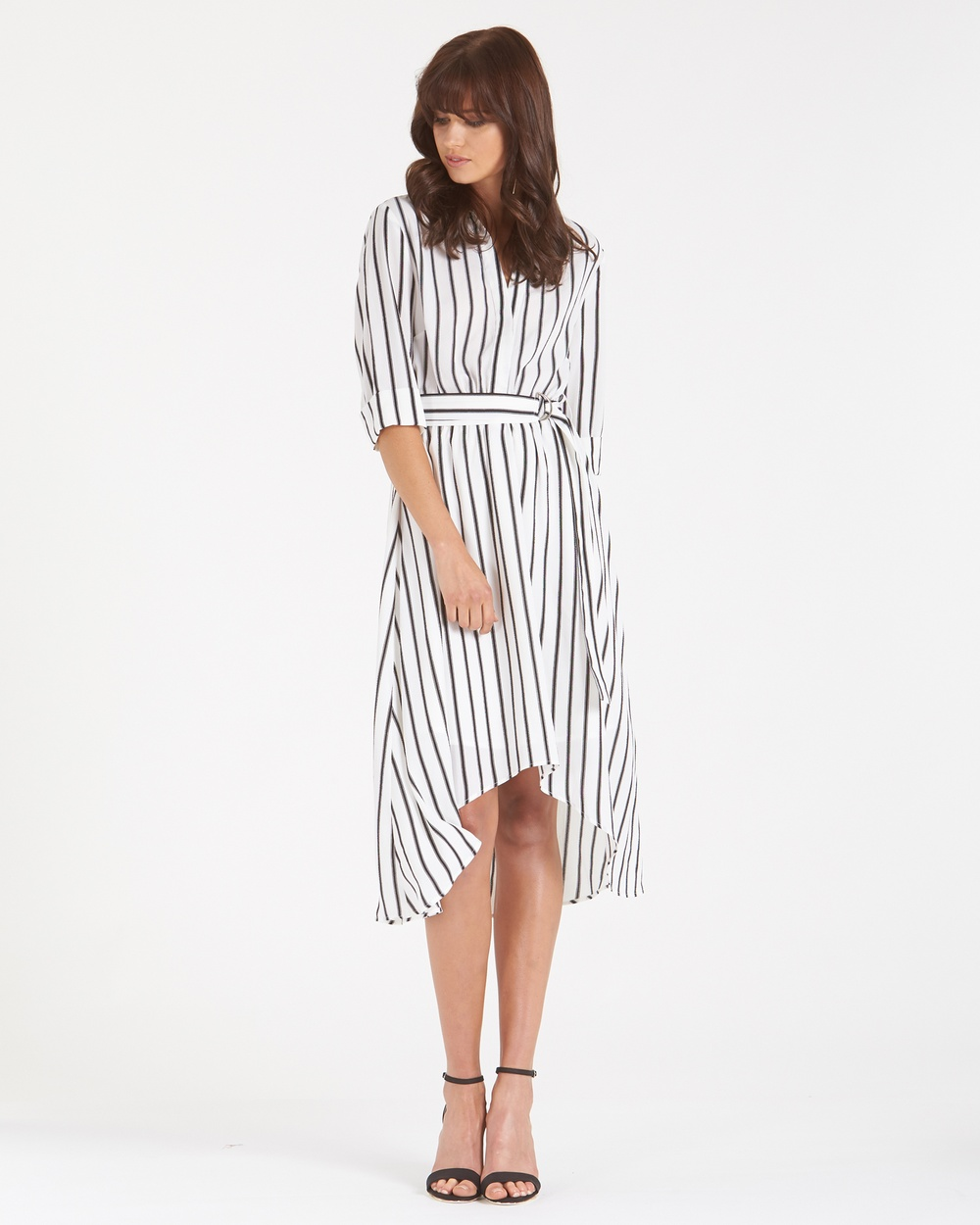 Amelius Allegra Stripe Dress Dresses White-Stripes Allegra Stripe Dress