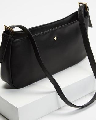 PETA AND JAIN Patience Shoulder Bag - Clutches (Black PU)