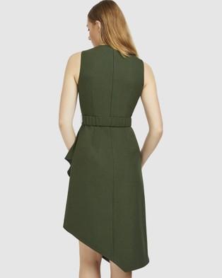 ARIS Layered Snap Belt Dress - Dresses (Green)
