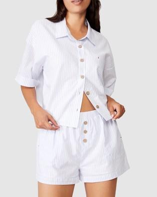 Cotton On Body Washed Woven Sleep Set - Two-piece sets (Pyjama Stripe)